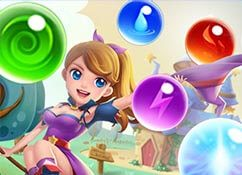 Bubble shooter La saga de la bruja