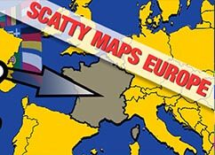 Cartes Scatty Europe